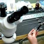 Manutenção de artroscópio